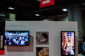 A couple of my shots on display in the Adobe Booth during Photoshop World 2012 DC