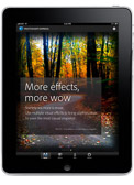 My images appeared in the 1st native iPad version of Photoshop Express from Adobe