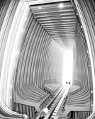 Looking up from the 2nd floor of the Atlanta Marriott Marquis. It looks like the inside of a spaceship