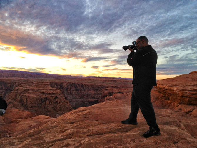 Terry White shooting Horseshoe Bend